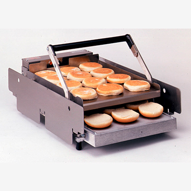 apw toaster m halves hour grill electric capacity halveshour conveyor bun